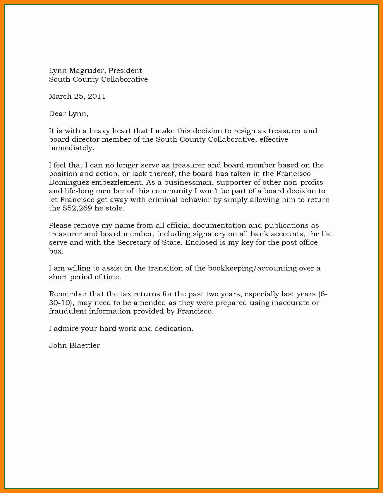 40 Resignation Letter Effective Immediately | Desalas Template