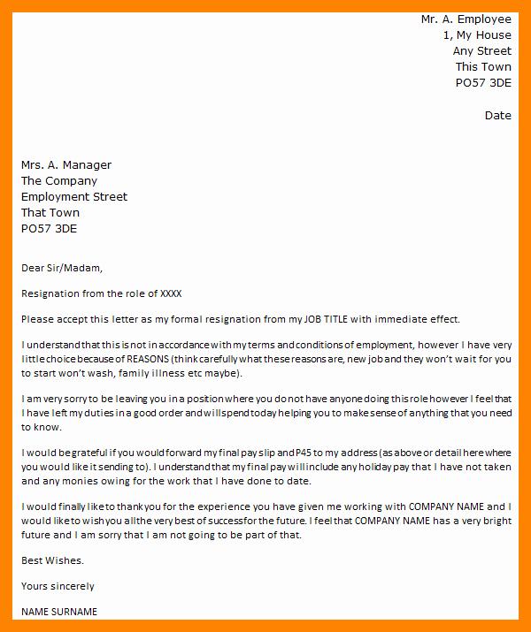Resignation Letter Effective Immediately Luxury 7 Effective Immediately Resignation Letter