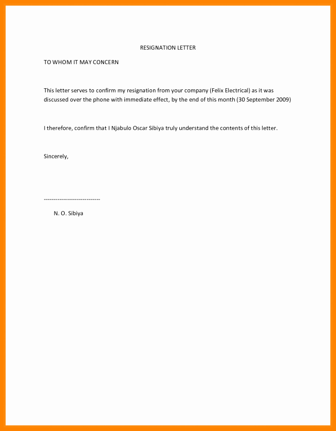 Resignation Letter Effective Immediately New 6 Effective Immediately Resignation