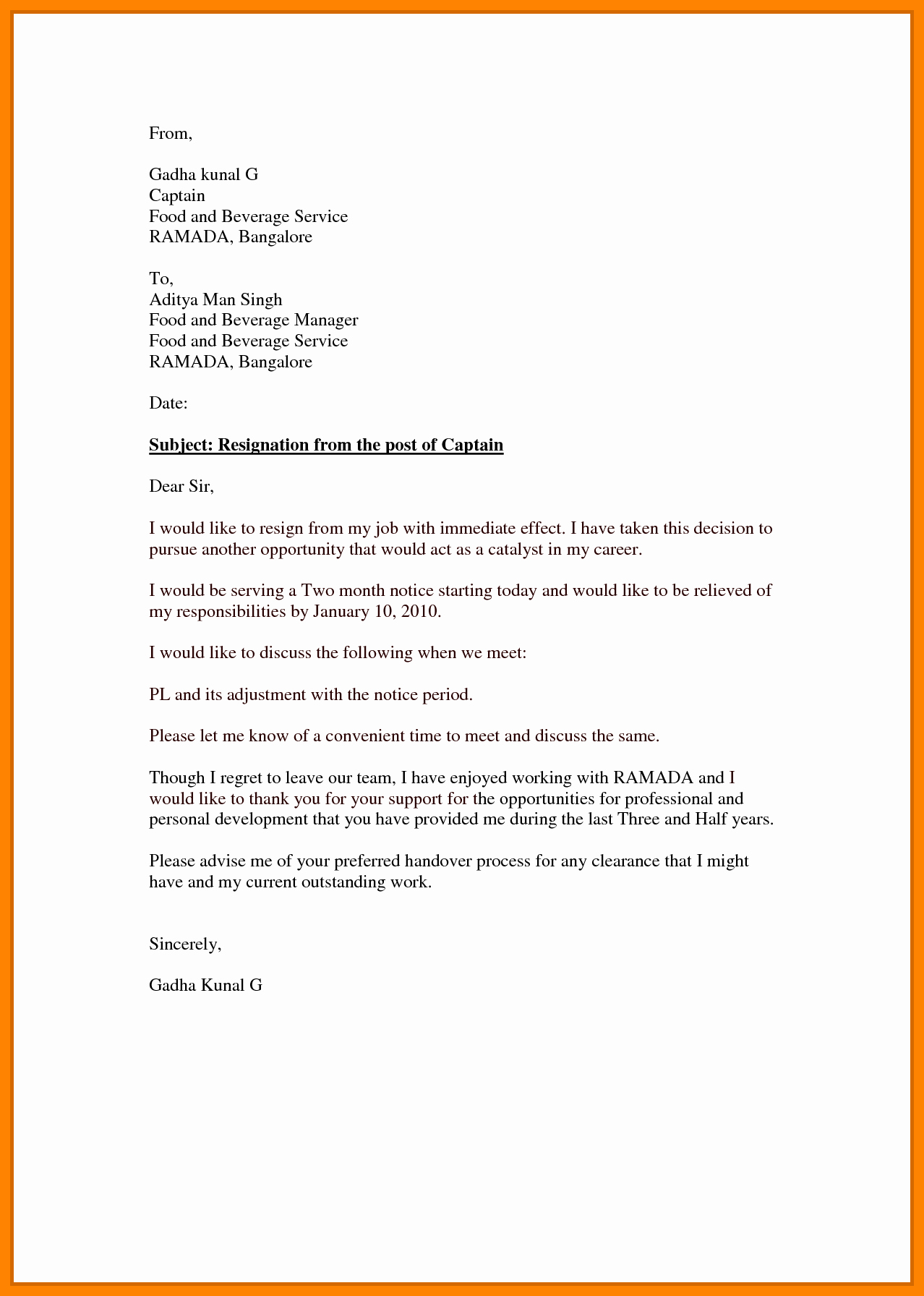Resignation Letter Effective Immediately New 7 Effective Immediately Resignation Letter