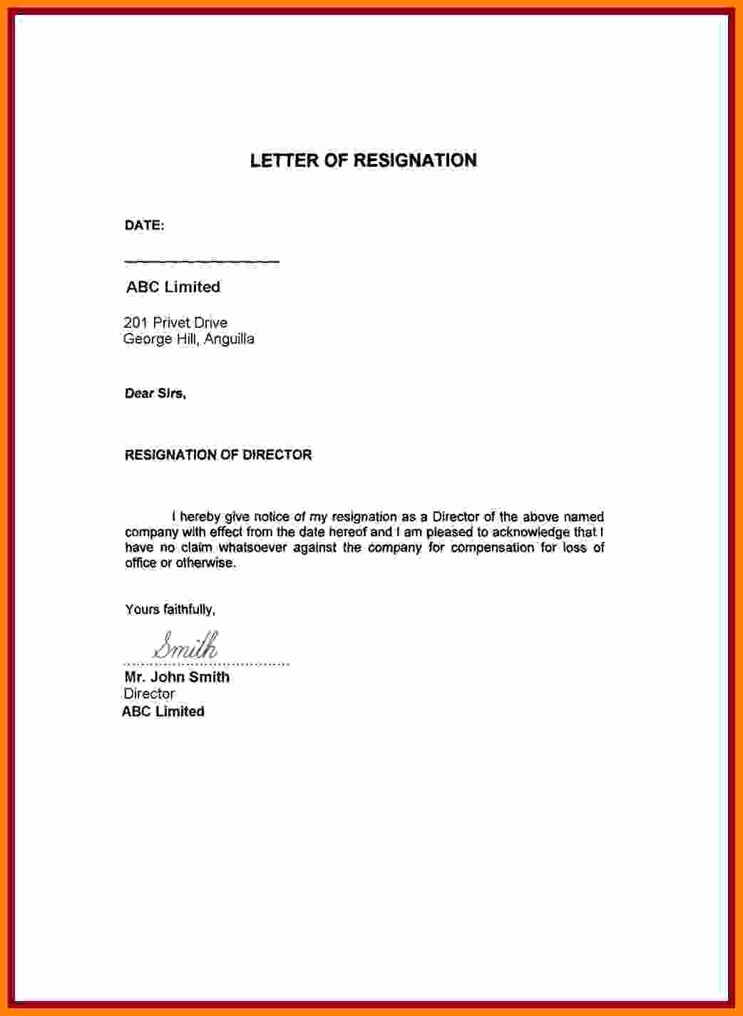 Resignation Letter Effective Immediately Unique 6 Sample Resignation Letter with Reason Effective