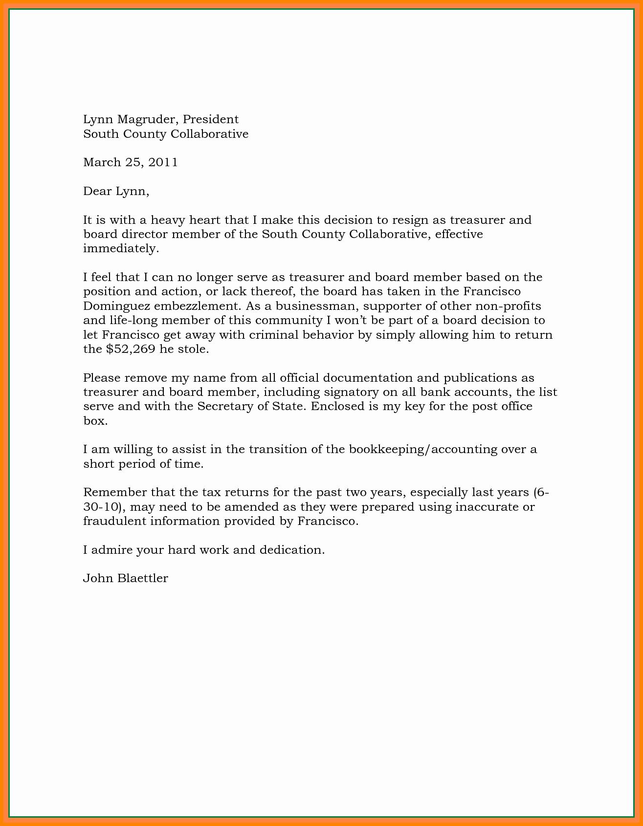 Resignation Letter Effective Immediately Unique 7 Effective Immediately Letter