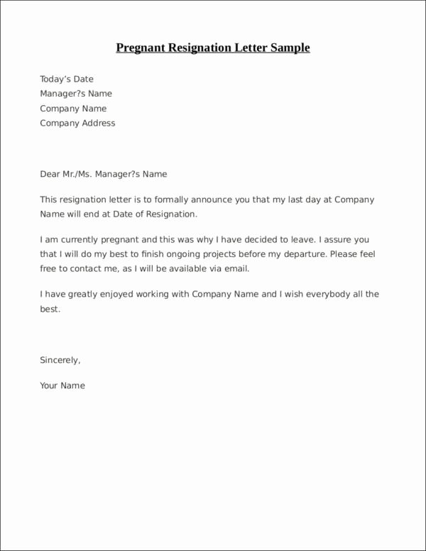 Resignation Letter Template Free Fresh Free 33 Printable Resignation Letter Samples & Templates