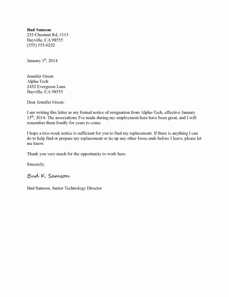 Resignation Letter Template Free Inspirational How to Write A Letter Of Resignation Writing after A Job