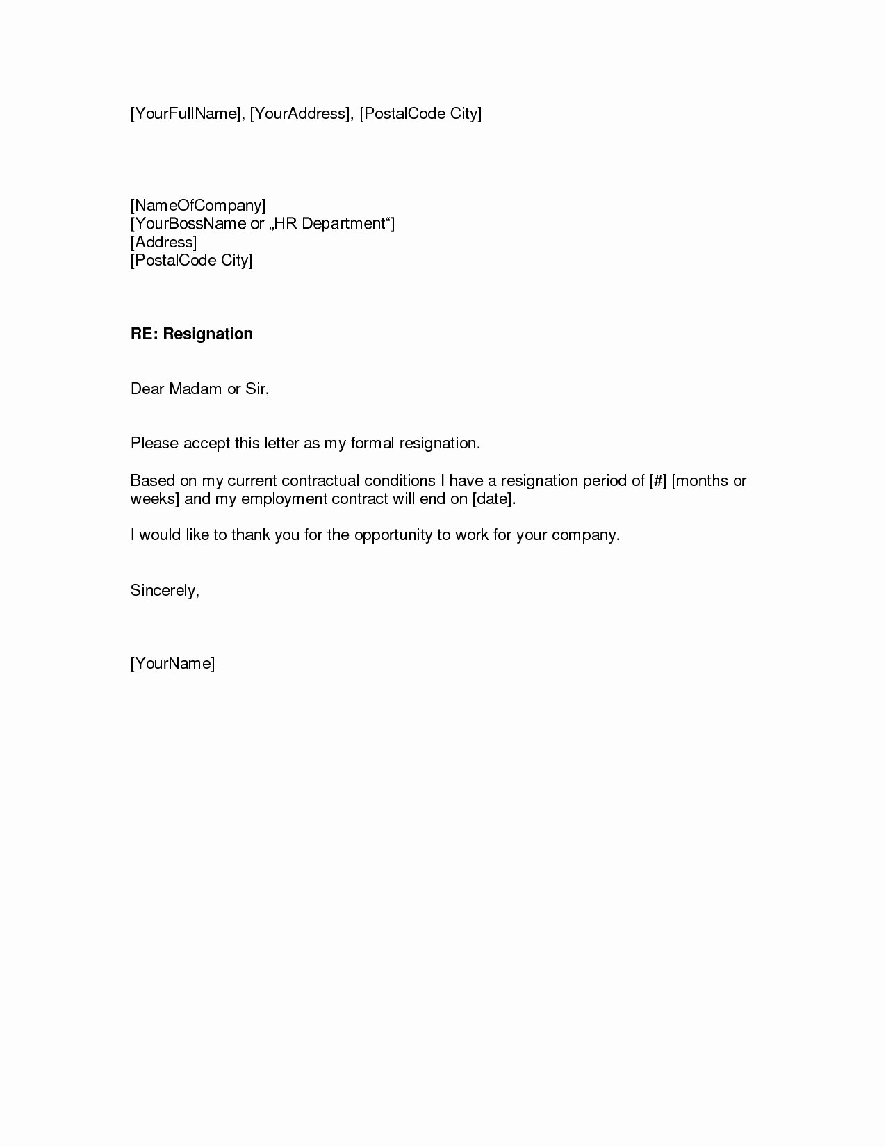 Resignation Letter Template Free Inspirational How to Write Easy Simple Resignation Letter Sample