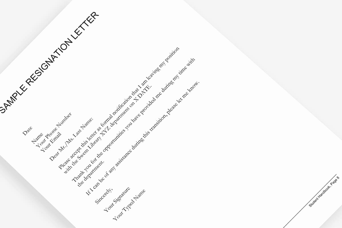 Resignation Letter Template Free Luxury Resignation Letter Free Template