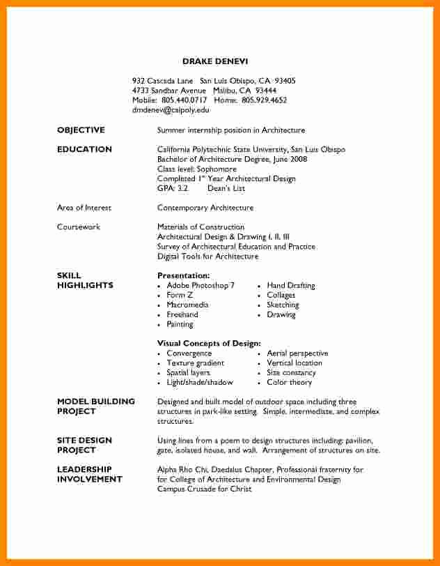 Resume Examples for Highschool Students Awesome 5 Cv Template for High School Students