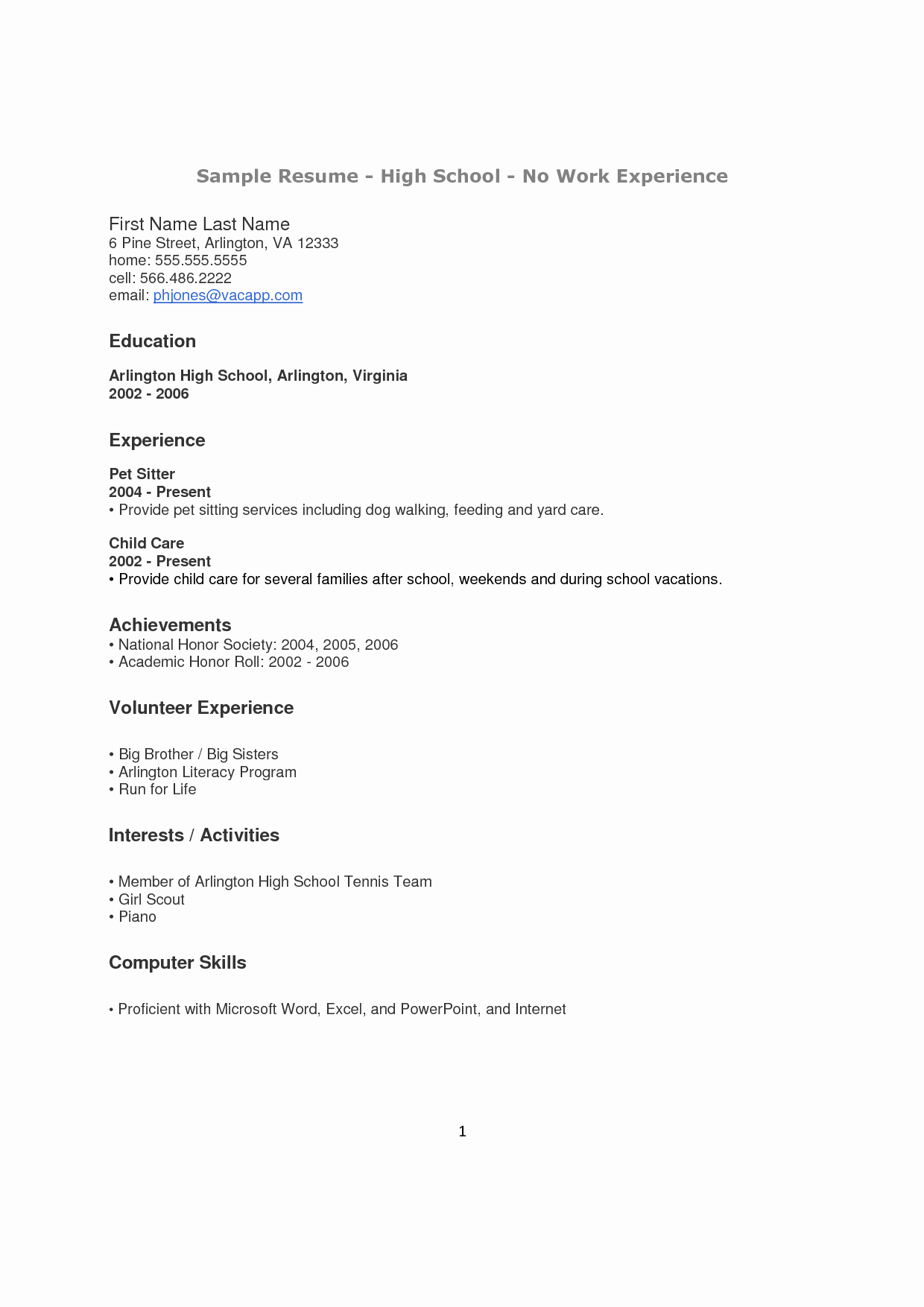 Resume Examples for Highschool Students Beautiful How to Make A Resume for A Highschool Student with No