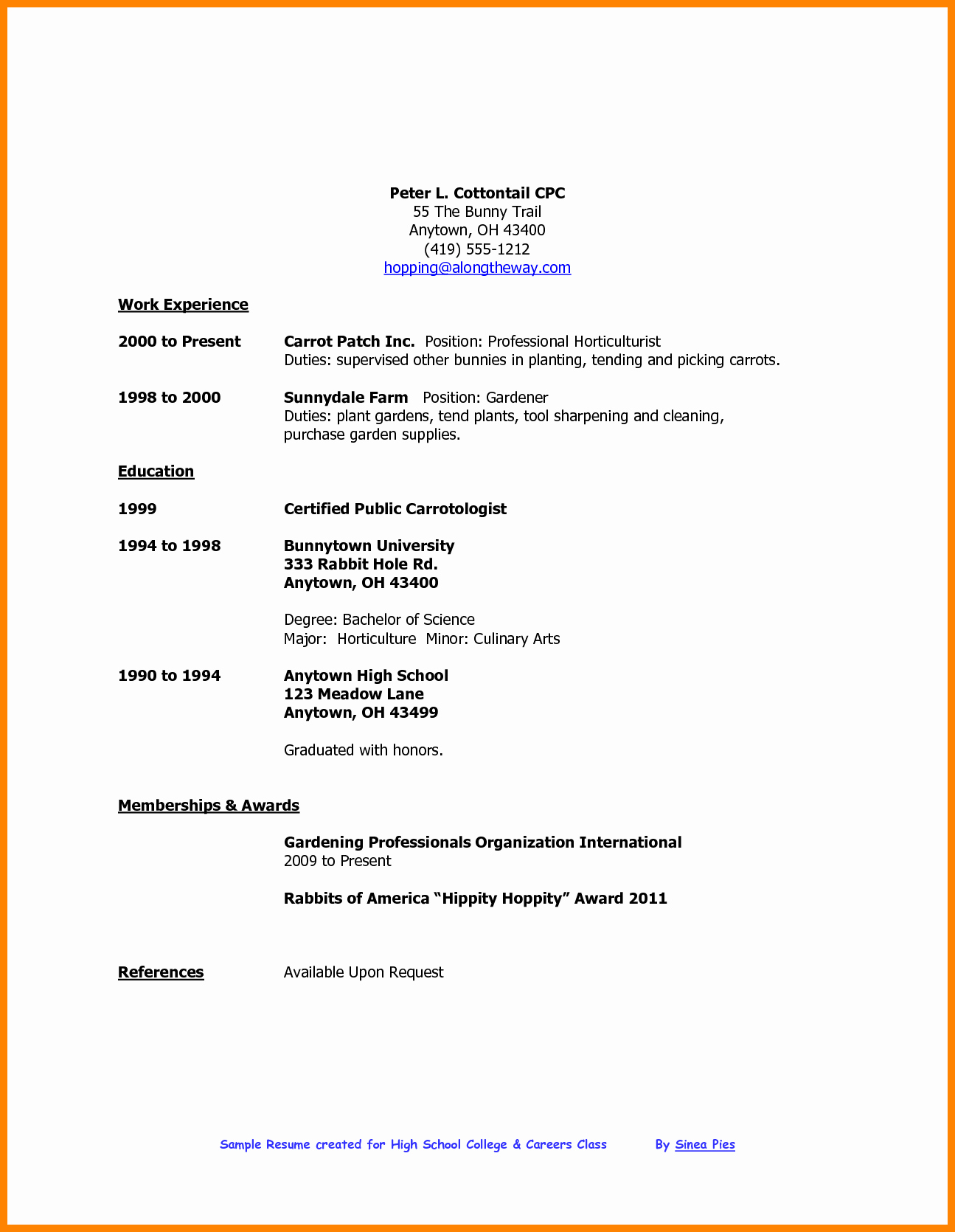 Resume Examples for Highschool Students Fresh 5 Cv Template for High School Student