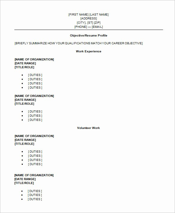Resume Examples for Highschool Students Fresh High School Student Resume Template