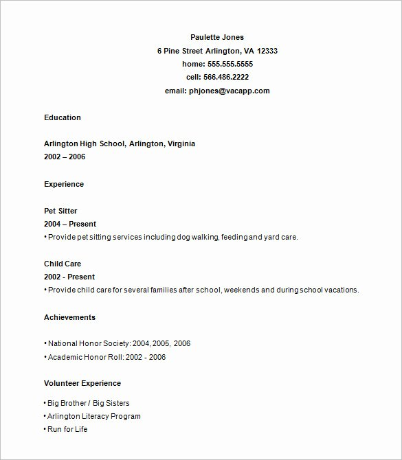 Resume High School Student Awesome 24 Best Student Sample Resume Templates Wisestep