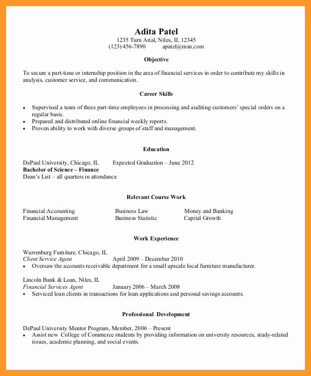 Resume Samples for College Student Best Of 11 12 Entry Level College Student Resume Samples