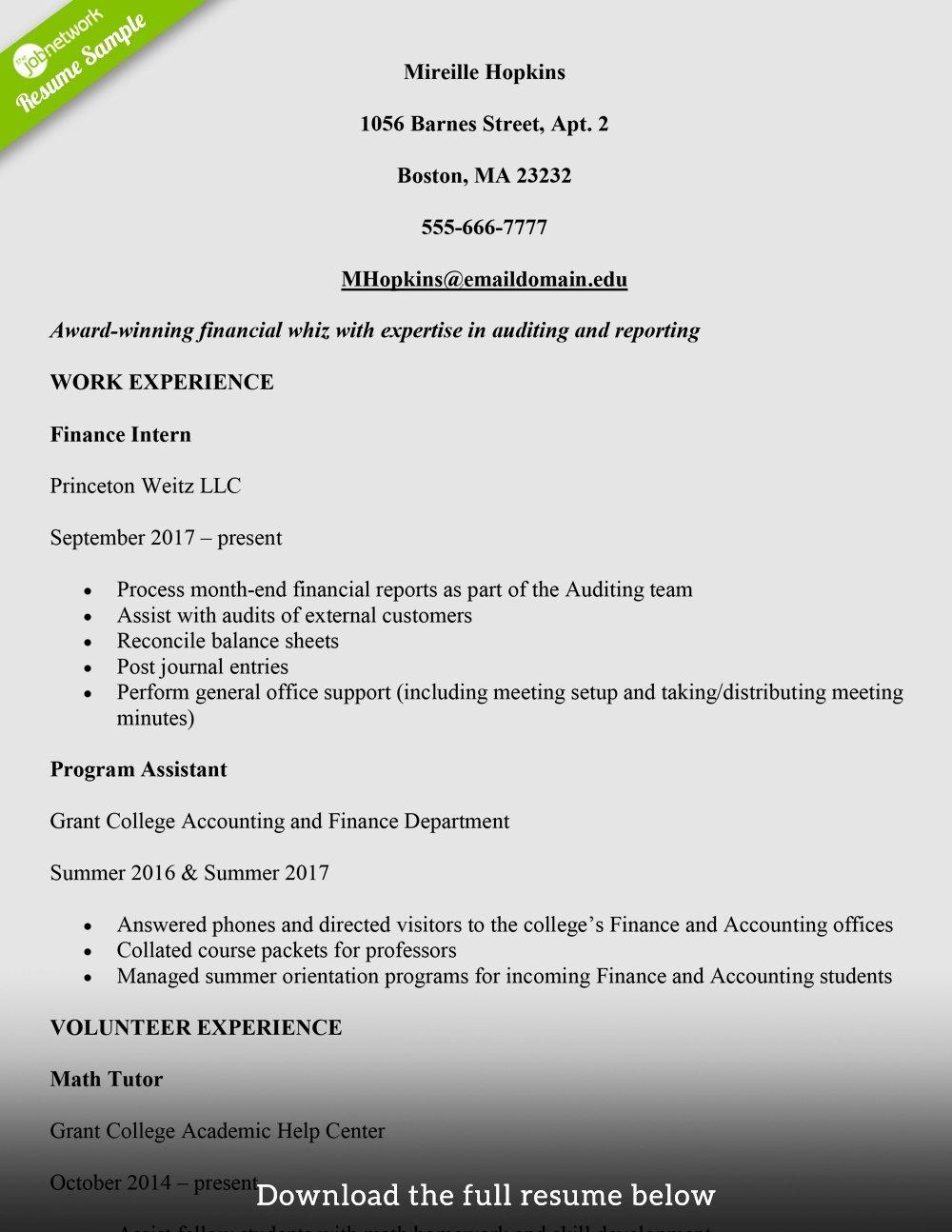 Resume Samples for College Student Fresh Job Resumes for College Students