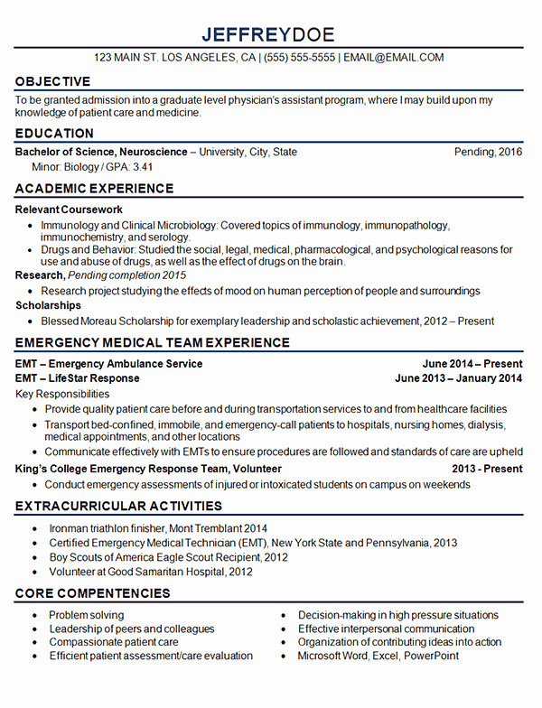 Resume Samples for College Student Unique Medical Student Resume Example Sample