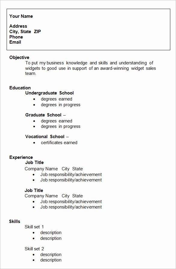 Resume Template College Student Inspirational 24 Best Student Sample Resume Templates Wisestep