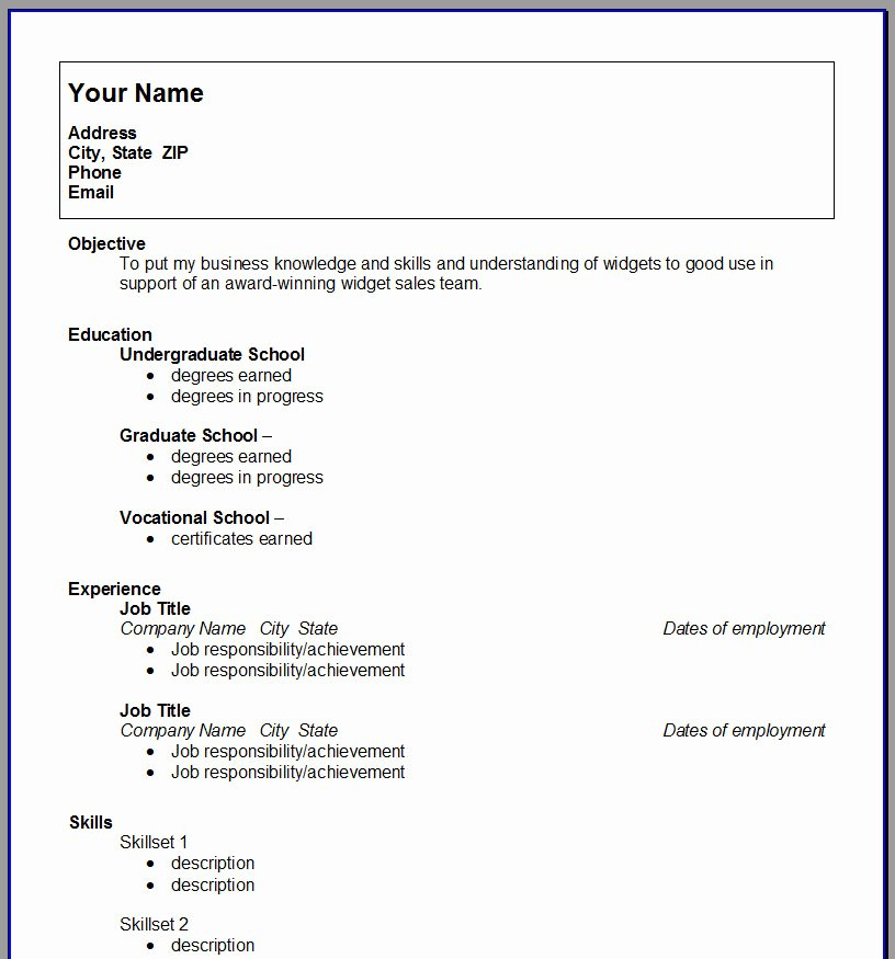 Resume Template College Student Inspirational College Resume Template