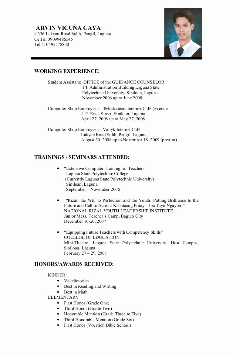 Resume Template College Student Luxury Sample Resume for A College Student