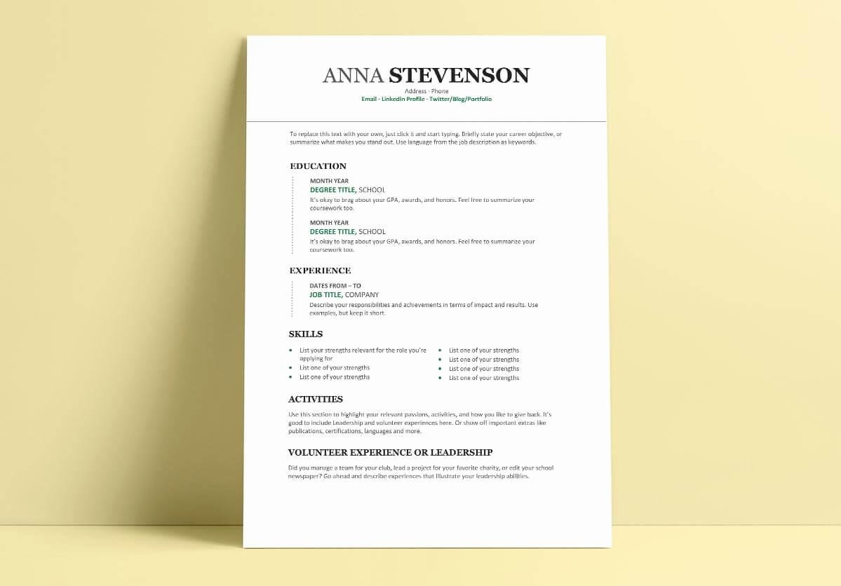 Resume Template College Student New Student Resume Cv Templates 15 Examples to Download & Use now