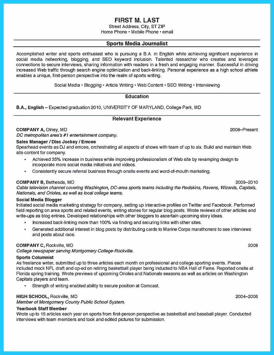 Resume Template College Student Unique Best Current College Student Resume with No Experience