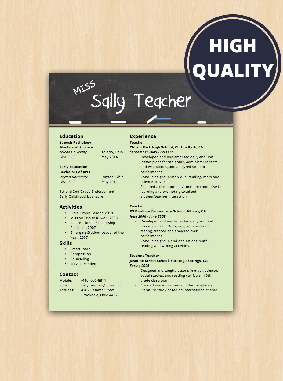 Resume Template for Teachers Luxury Elementary School Teacher Resume & Cover Letter Modern