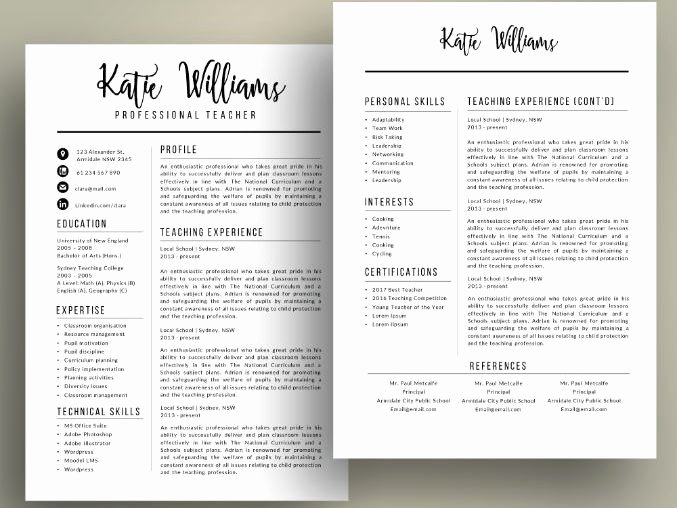 Resume Template for Teaching Fresh Script Teacher Resume Cv Templates for Ms Powerpoint Pptx