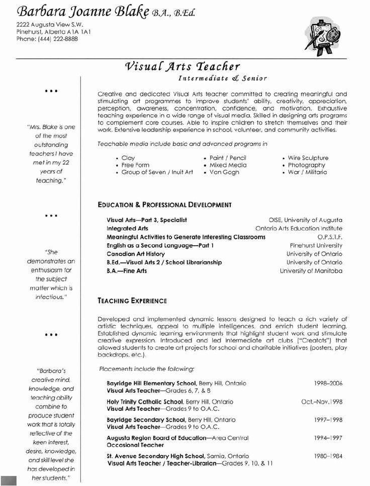 Resume Template for Teaching New Best 25 Teacher Resumes Ideas On Pinterest