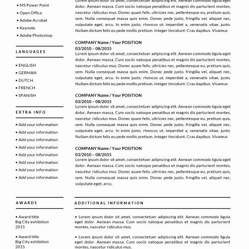 Resume Templates for Mac Awesome Resume Templates for Mac Word & Apple Pages Instant