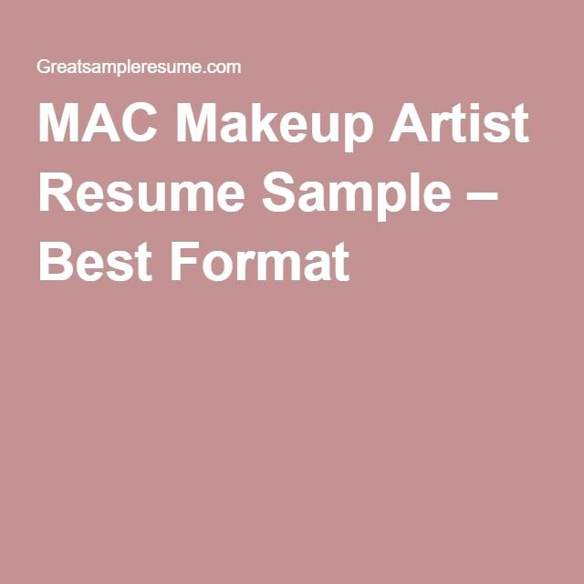 Resume Templates for Mac Beautiful Mac Makeup Artist Resume Sample – Best format