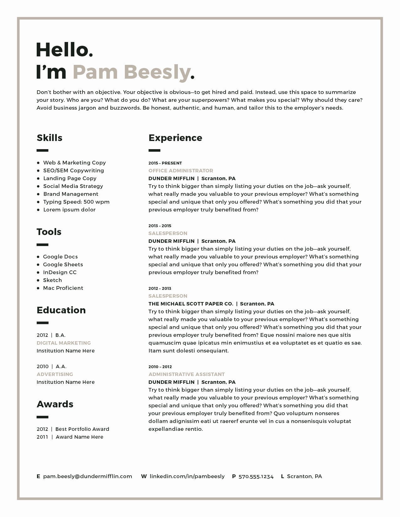 Resume Templates for Mac Lovely Resume Template Modern Resume Resume Pdf