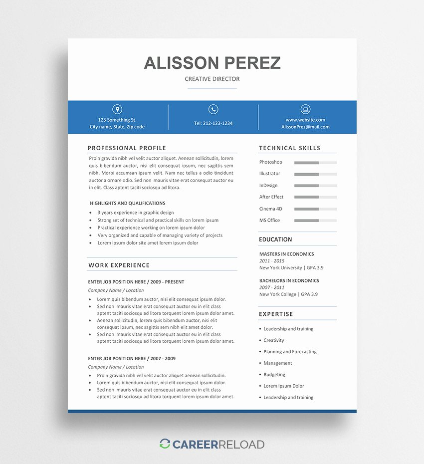 Resume Templates Free Word Awesome Download Free Resume Templates Free Resources for Job