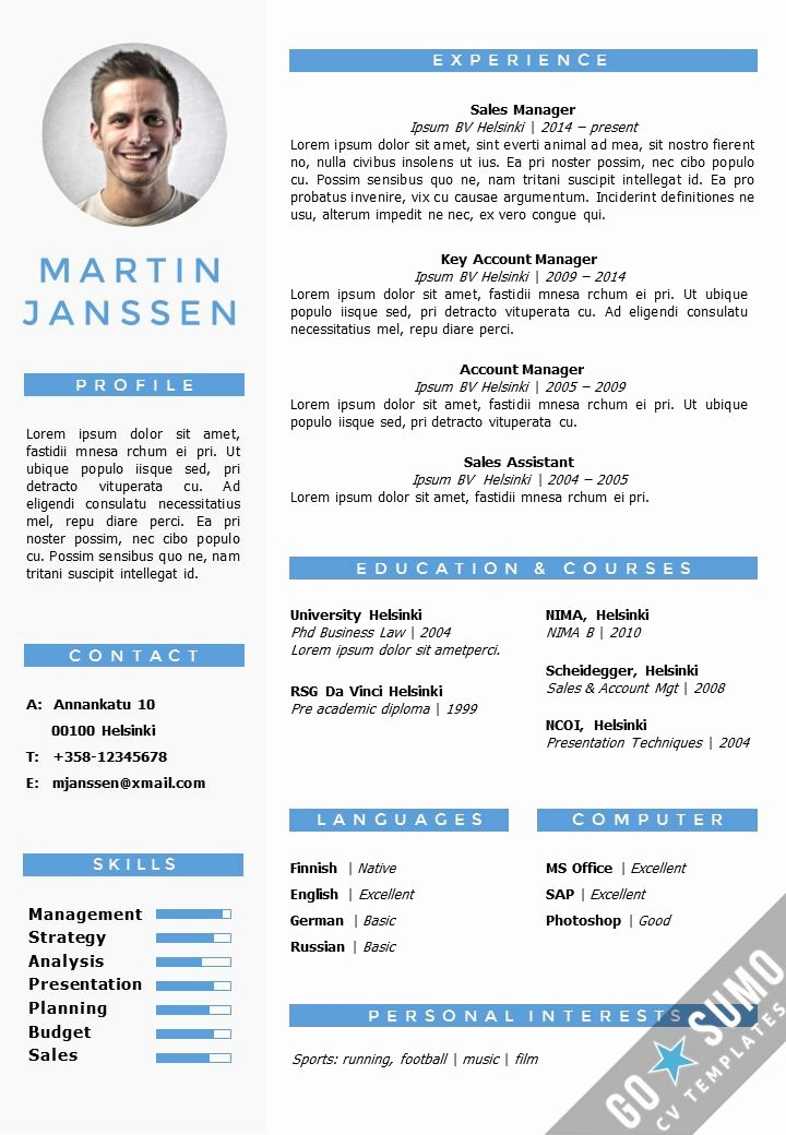 Resume Templates Free Word Inspirational Cv Resume Template In Word Fully Editable Files Incl 2nd