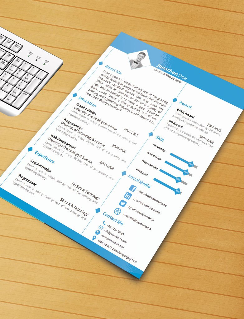 Resume Templates Free Word Lovely 25 Beautiful Free Resume Templates 2019 Dovethemes
