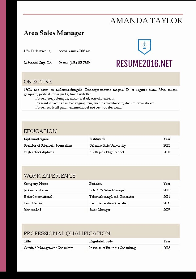 Resume Templates Free Word Lovely Resume 2016 Download Resume Templates In Word