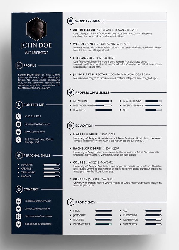 Resume Templates Free Word Luxury 10 Best Free Resume Cv Templates In Ai Indesign Word