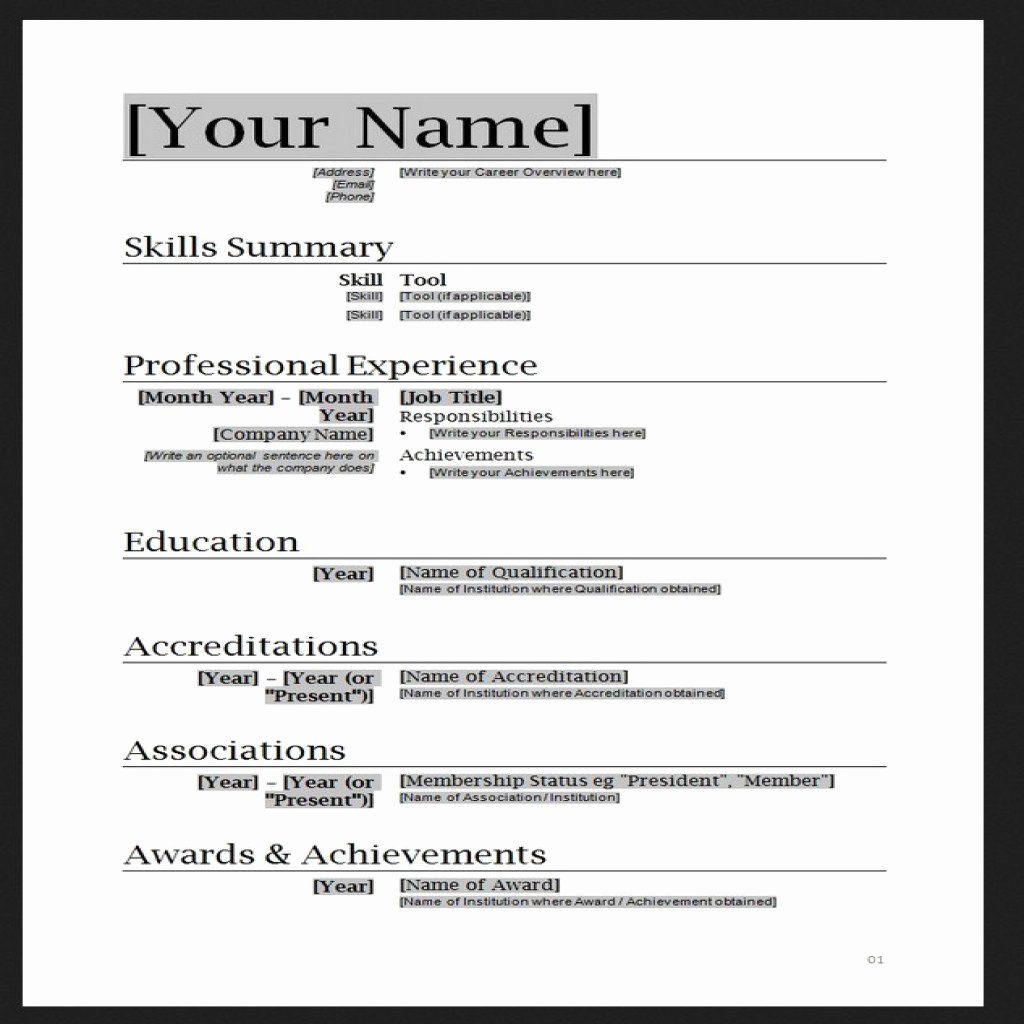 Resume Templates Free Word Luxury Job Resume format Word top 10 Best Resume Templates Ever