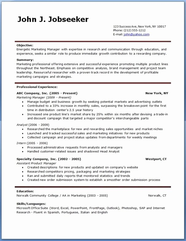 Resume Templates Free Word New Ginger Account Manager Resume Template Free