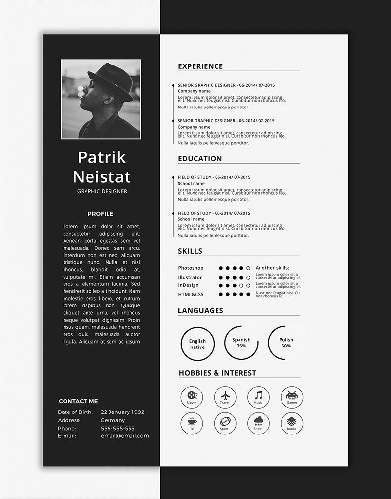 Resume Templates Free Word Unique 10 Fresh Free Resume Cv & Cover Letter Design Templates