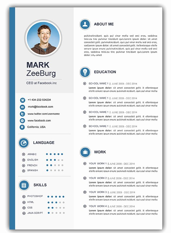Resume Templates Free Word Unique 4 Free Download Resume Cv Templates for Microsoft Word