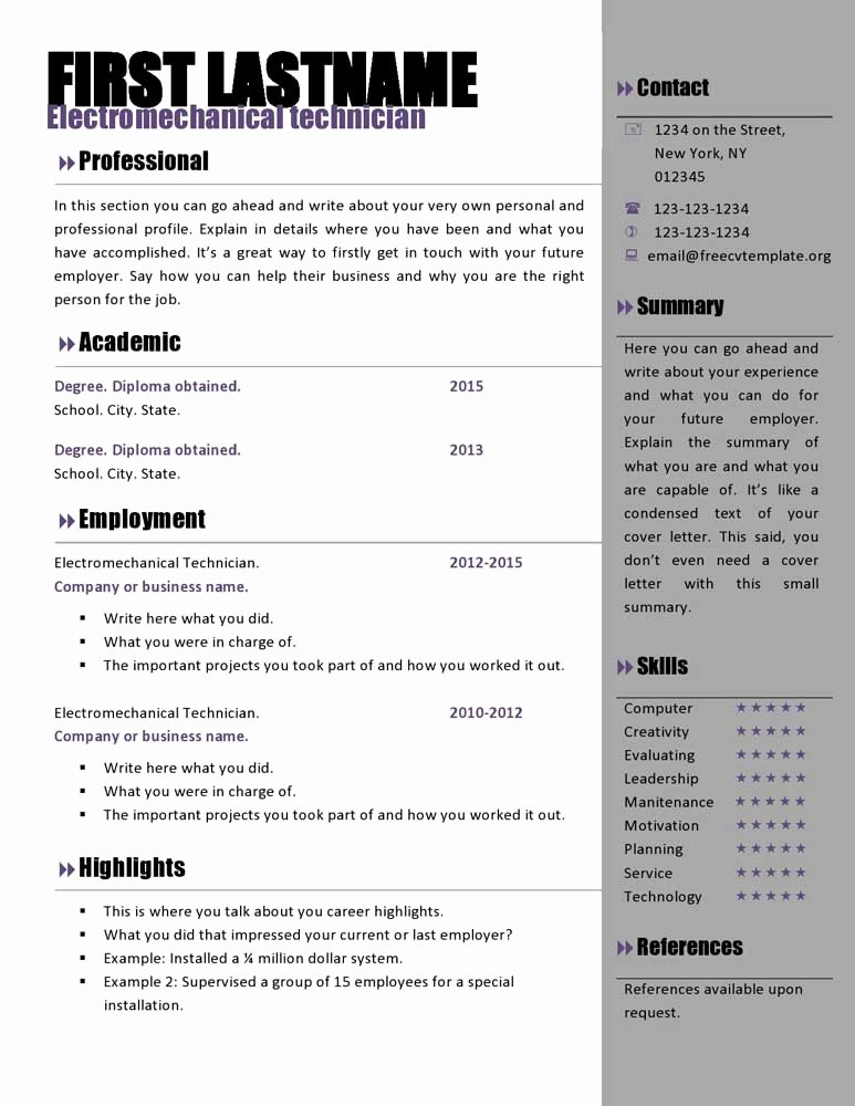 Resume with Picture Template Awesome Free Curriculum Vitae Templates 466 to 472 – Free Cv