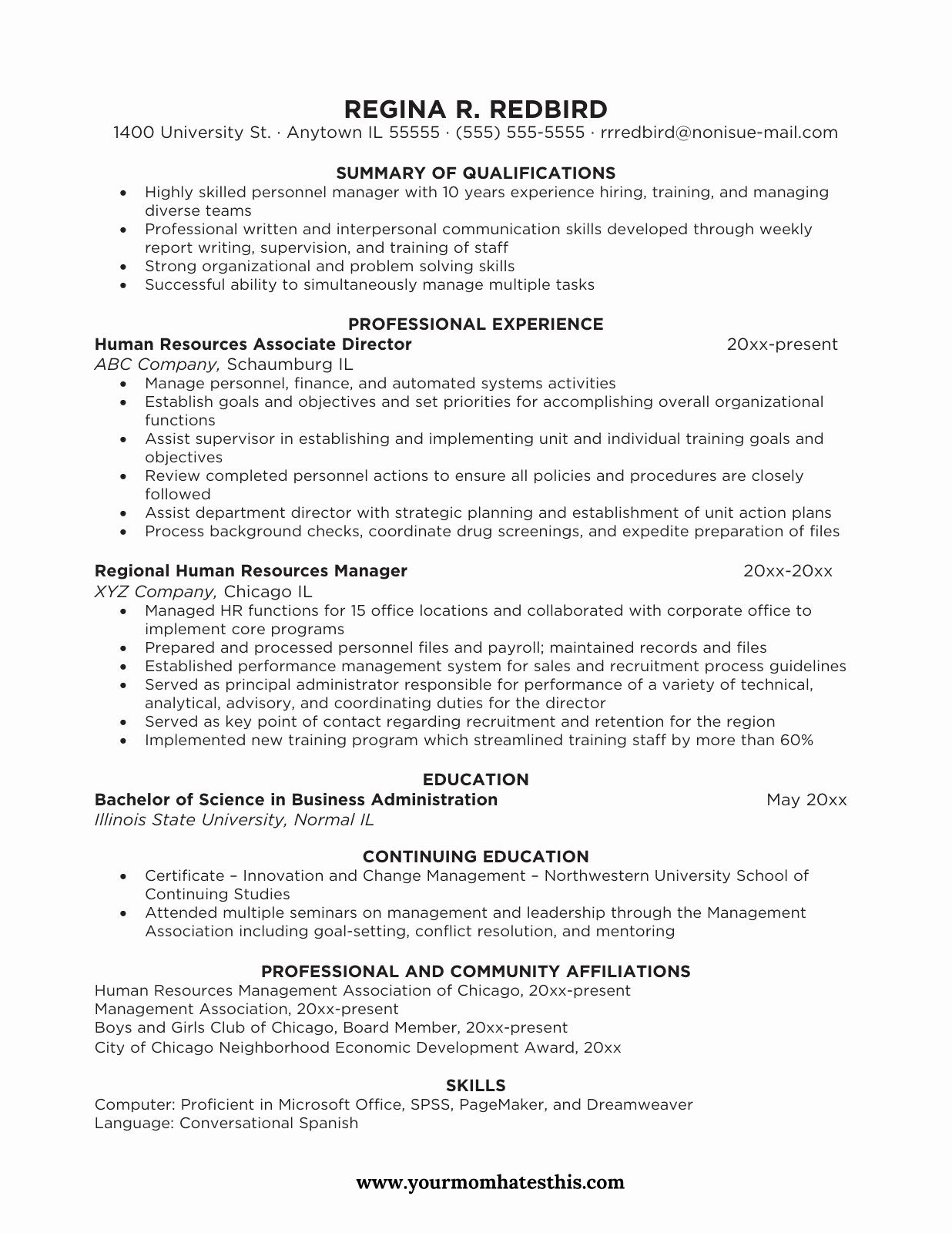 varieties of resume templates and samples