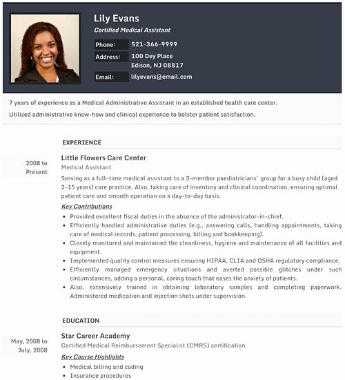 Resume with Picture Template Beautiful Resume Templates Professional Cv formats