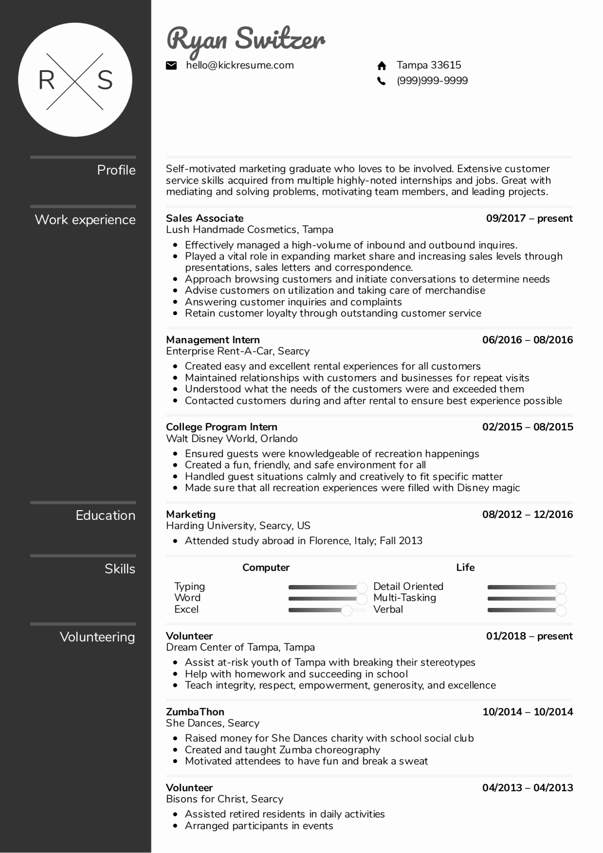 Resume with Picture Template Best Of Resume Examples by Real People Sales associate Resume