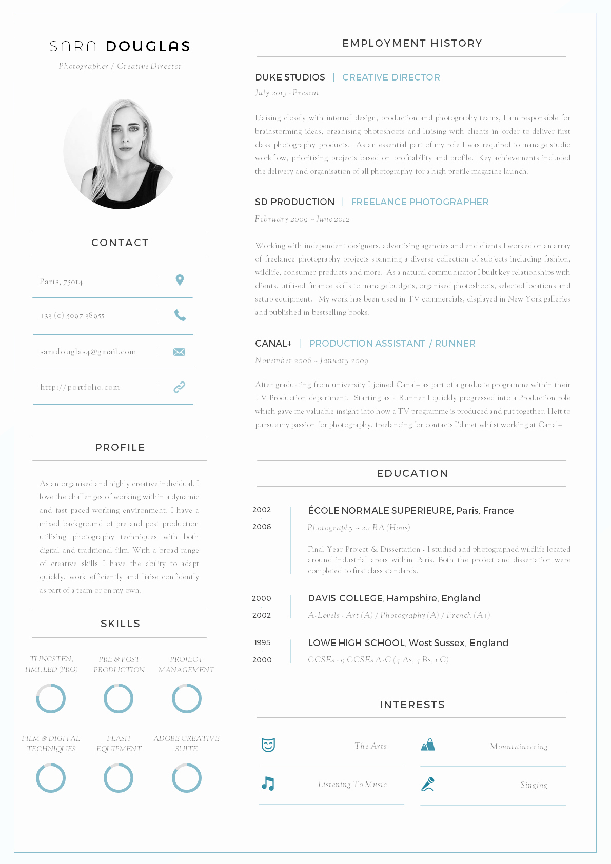 Resume with Picture Template Elegant 43 Modern Resume Templates Guru