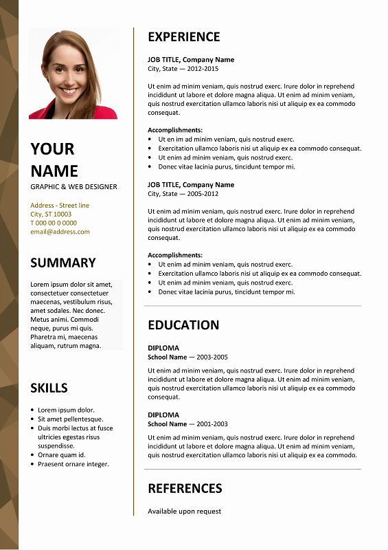 Resume with Picture Template Fresh Dalston Newsletter Resume Template