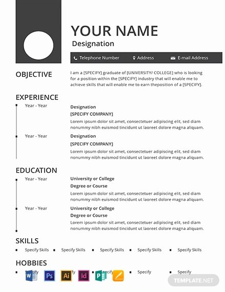 Resume with Picture Template Inspirational Free Blank Resume Template Word Psd Indesign