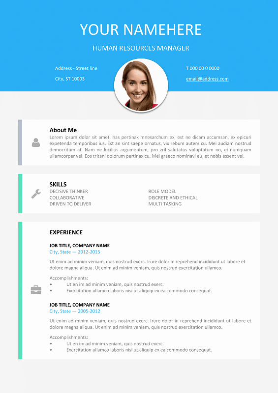 Resume with Picture Template Lovely Le Marais Free Modern Resume Template