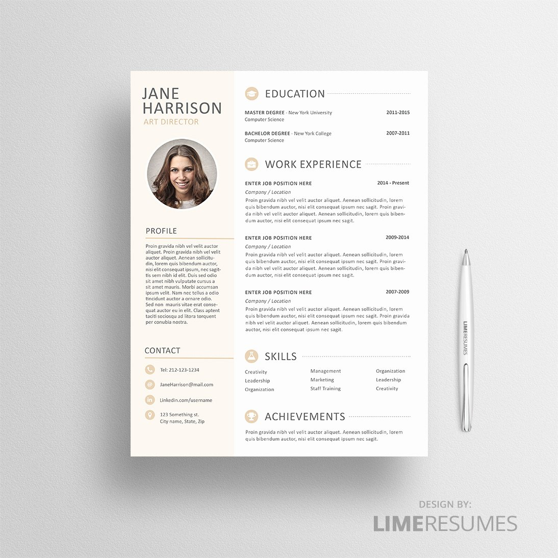 Resume with Picture Template Lovely Resume with Cv Template with Limeresumes