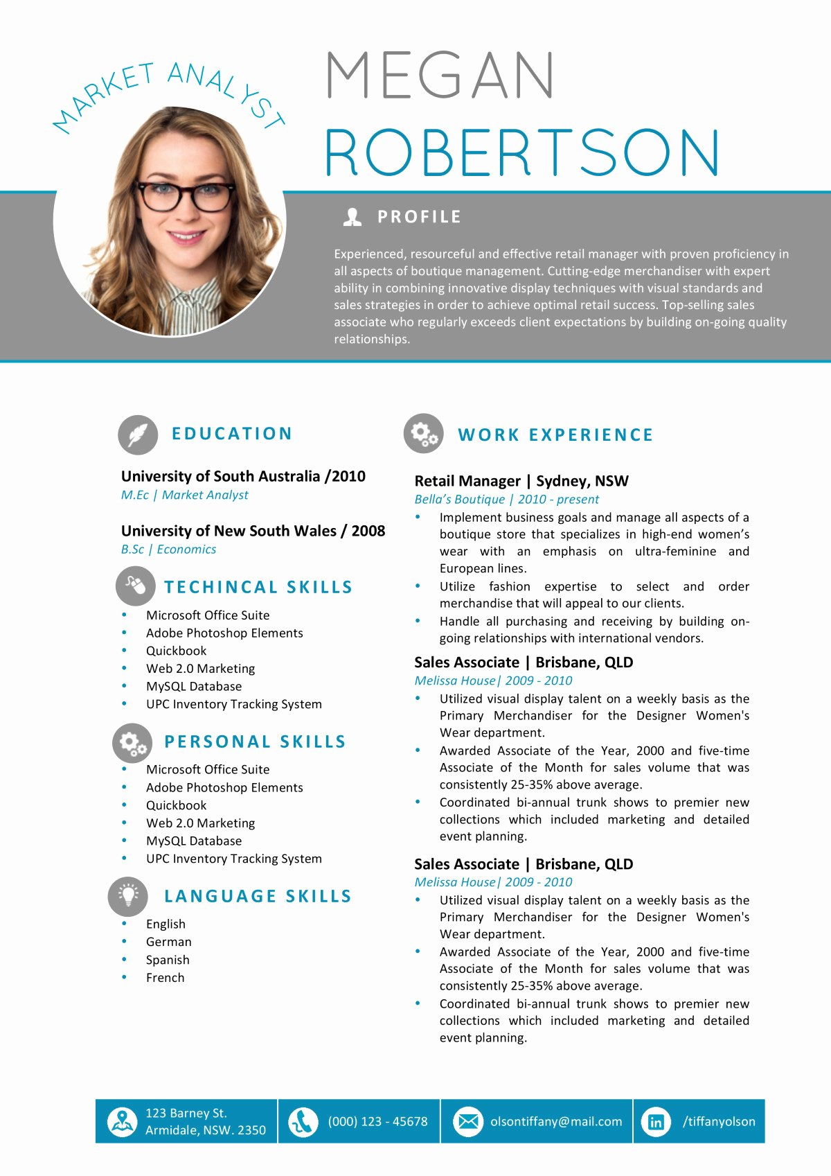 Resume with Picture Template Luxury the Megan Resume Professional Word Template