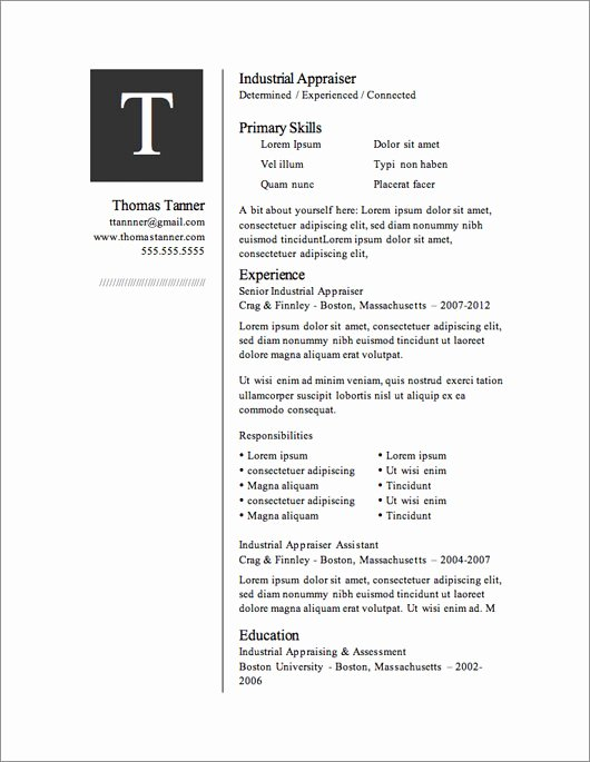 Resume with Picture Template New 12 Resume Templates for Microsoft Word Free Download