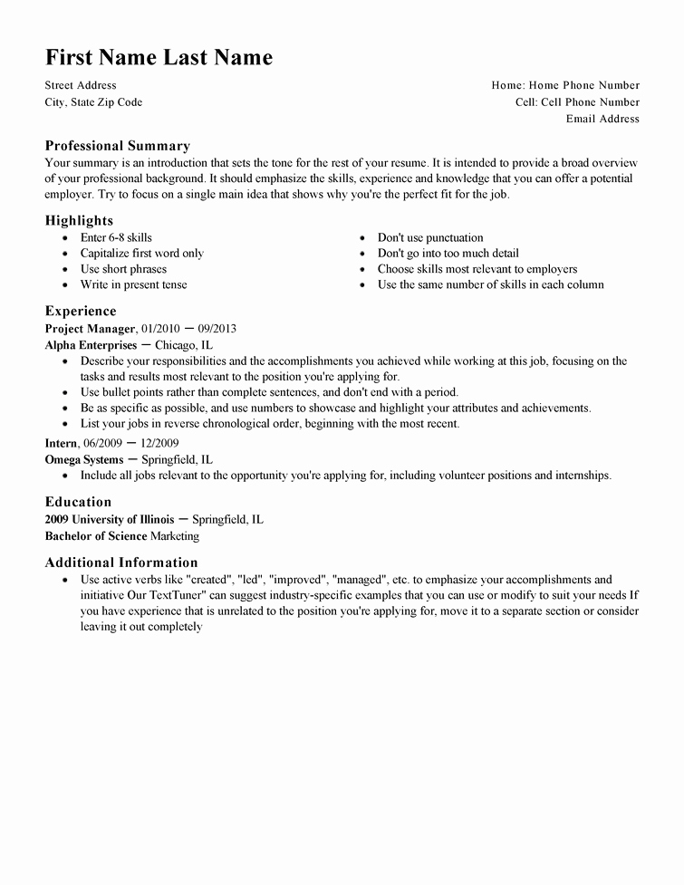 Resume with Picture Template New Free Professional Resume Templates